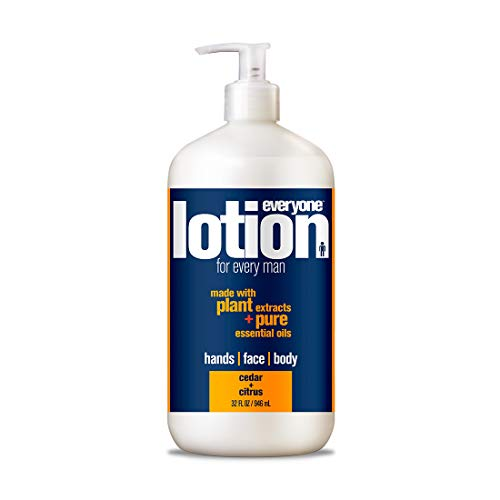 Everyone 3-in-1 Lotion for Every Man for Hands, Face, and Body with Natural Herbal Extracts and Essential Oils, Cedar and Citrus, 6 - Lotion Body Herbal Eo