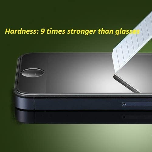 iCaseGear Premium Tempered Glass Screen Protector for Apple iPhone 5 Purple