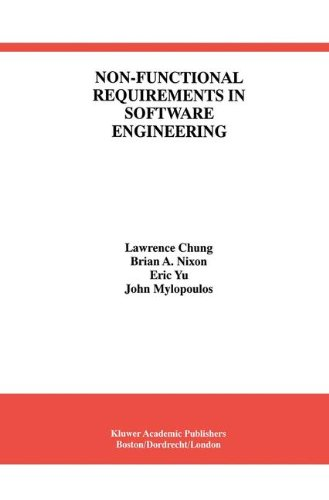 Non Functional Requirements In Software Engineering  International Series In Software Engineering