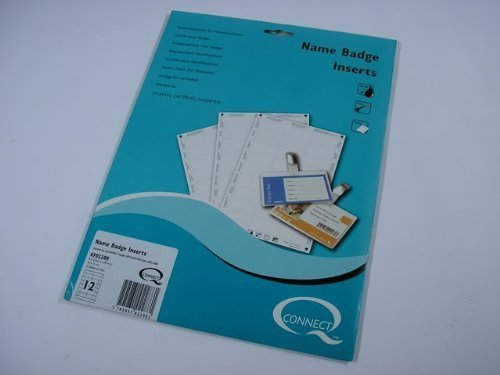 Manchester Stationery Pack of 300 Premium Quality 40 X 75mm Name Badge Inserts by Manchester Stationery