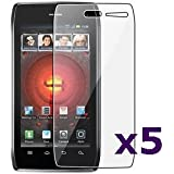 Fosmon Crystal Clear Screen Protector Shield for Motorola Droid 4 / Maserati / XT894 - 5 Pack