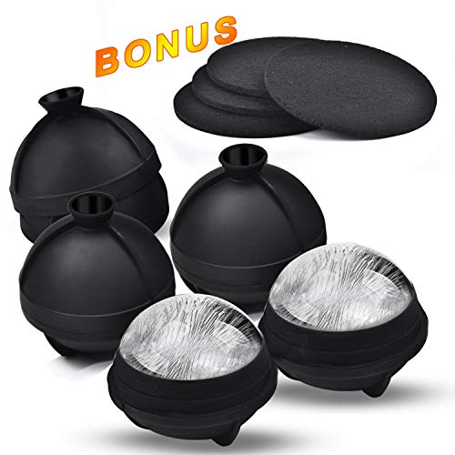 Amazon.com: Molde para bolas de hielo de silicona grande de ...