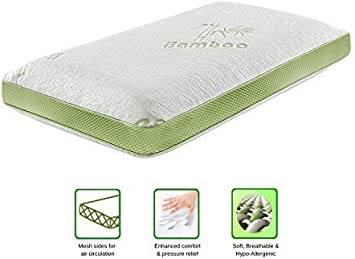 Memory Foam Anti Allergenic Baby Mattress Cot Mattress 60x120cm ANZ GLOBAL Bamboo Cot Mattress with Removable Soft Breathable Bamboo Cover