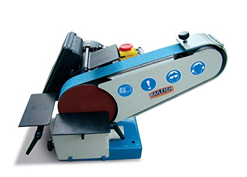 Baileigh DBG-62 Combination Belt and Disk Grinder, 110V, 1hp Motor, 6' Disk Diameter, 40' Belt...