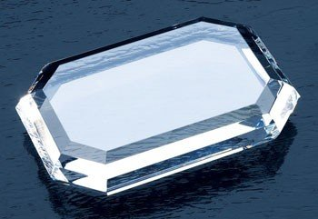 Optical Crystal Rectangle Paperweight (Rectangle Crystal Paperweight)
