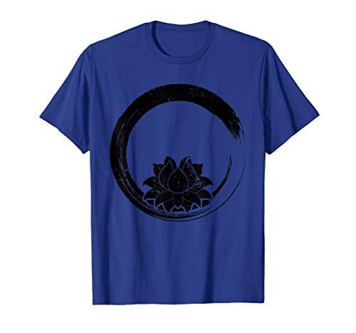 Zen Buddhist Gift - Zen Circle Lotus Flower Yoga T-Shirt ()