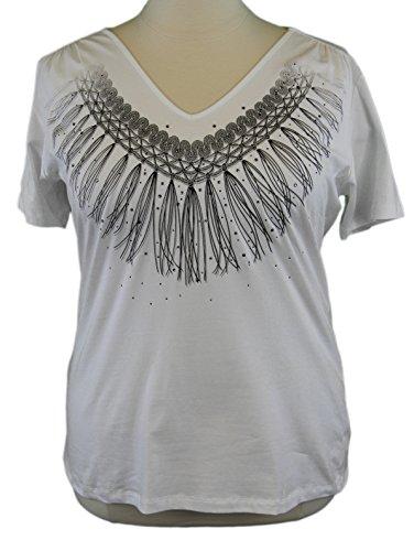 marina-rinaldi-by-maxmara-algone-white-tassel-design-v-neck-t-shirt-xl