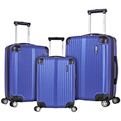 Rockland Hardside Spinner 3-Piece Luggage Set, Blue