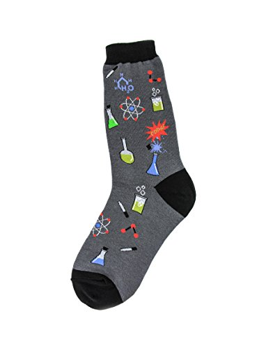 Foot Traffic, Women's Education-Theme Socks, Chemistry (Shoe Sizes 4-10)