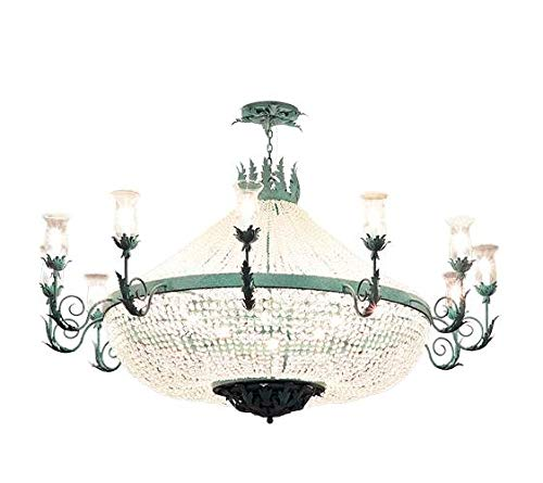 Crista Chandelier in Verdigris Finish
