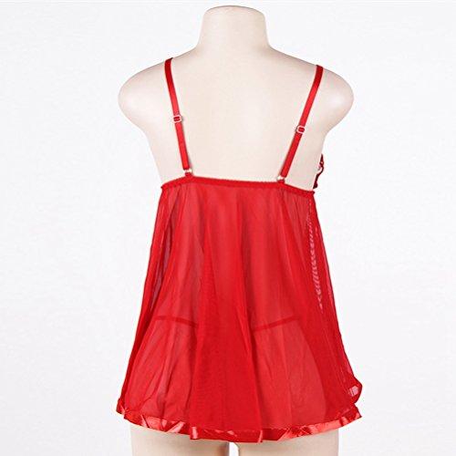 SEVEN Donna STYLE notte da Camicia Red FF0xfqwA