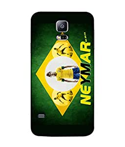 ColorKing Football Neymar Brazil 02 Multi Color shell case cover for Samsung S5