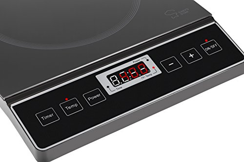 Chef's Star 1800W Portable Induction Cooktop Countertop Burner - 120V / 60Hz - Black by Chef's Star (Image #2)