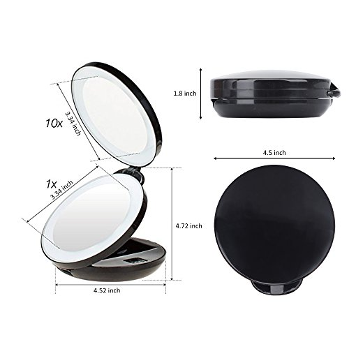 Kedsum 1x 10x Double Sided Led Lighted Makeup Mirror