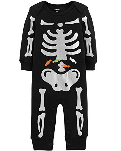 Carter's Baby Boys' Halloween Skeleton Jumpsuit (24