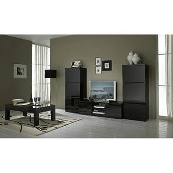 Wohnzimmer Komplett Design Farbe Schwarz Lackiert Roma Grundlage I