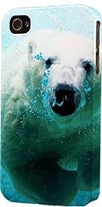 Polar Bear Swimming Dimensional Case Fits iPhone 5c