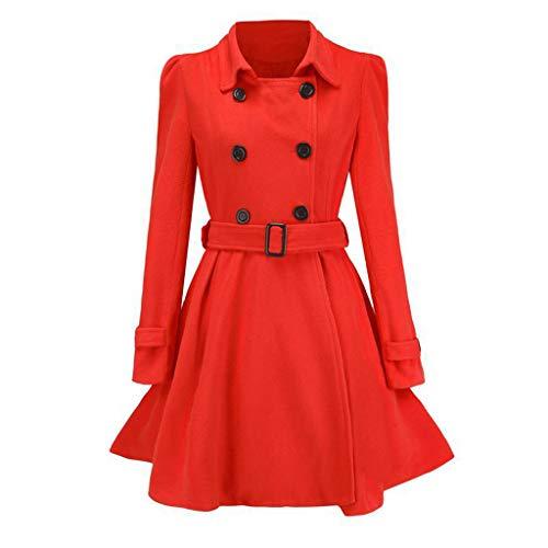 LISTHA Wool Lapel Trench Parka Coat Women Warm Outwear Long Jacket Overcoat