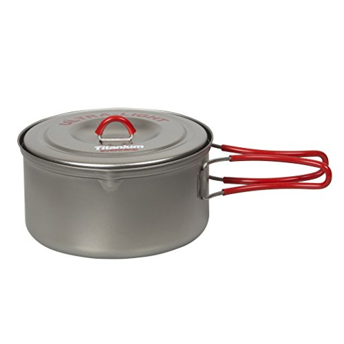 EVERNEW Titanium Ultralight Pot, 0.9-Liter