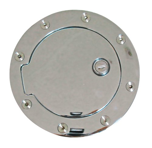 CSI C4097L Chrome Aluminum Locking Fuel Door 1999-2008 Ford Super Duty; 1997-2003 F150