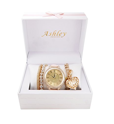 Beautiful Mother's Day Ladies Arm Candy Watch Jewelry Set -ST10119 Blush from Ashley Princess
