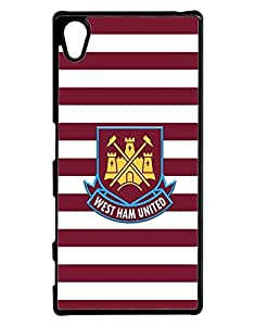 Cool Funda Case for Sony Xperia Z5 (Not for Z5 V / Z5 Compact) West Ham United F.C Creative High Impact Cute Anti Dust Design Back Film Protector Skin