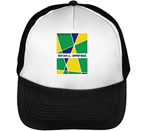 Support Football Gorras Hombre Snapback Beisbol Negro Blanco
