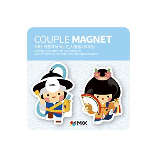 Mkx Costumes (Samul and Mudang Couple Fridge Magnet Korea Traditional Costume Memo Holder)