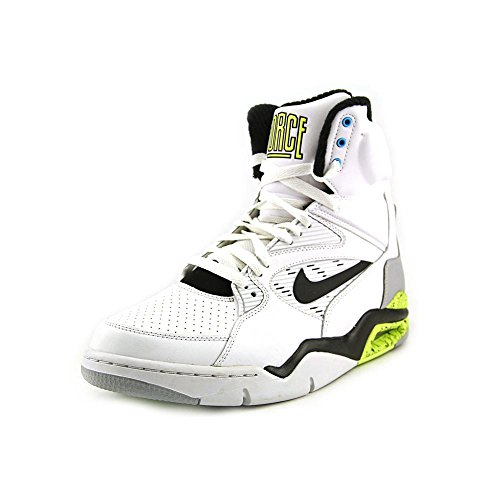 Nike Men's Air Command Force White/Black/Wolf Grey/Volt Basketball Shoe 11 Men US