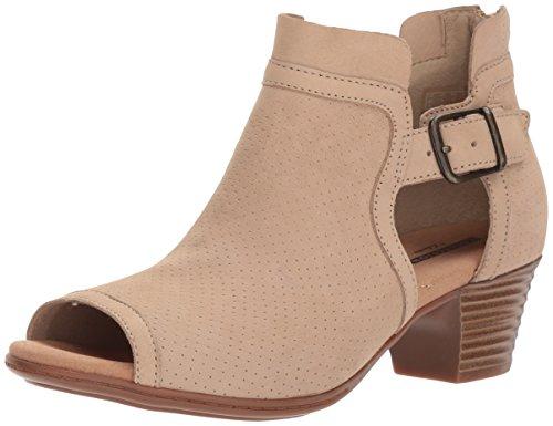 CLARKS Womens Valarie Kimble Heeled Sandal Sand Nubuck cNdOF1b