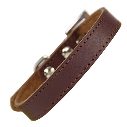 Genuine Leather Dog Collar Simple Design Durable Small Dog Collar Adjustable Cat Collar -  JFSH, dog collar A115-2-S
