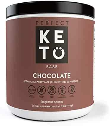 Perfect Keto Exogenous Ketones: Base BHB Salts Supplement. Ketones for Ketogenic Diet Best to Support Energy, Focus and Ketosis Beta-Hydroxybutyrate BHB Salt (Chocolate)