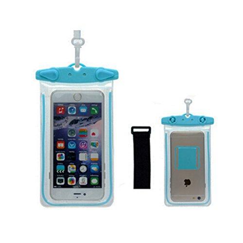 Boîtier étanche de téléphone portable à sec Sac pochette pour téléphone/,Bleu