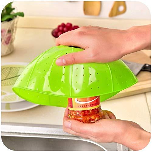 Fiesta Colador de silicona multifuncional Colador Escurrir Canasta Verduras Arroz Fruta Microonda Cubierta de plato...