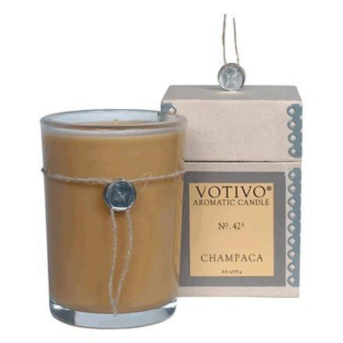 Votivo Incense - Votivo Aromatic Candle Champaca, Natural Soy Wax Blend, 6.8 oz.