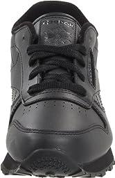 Reebok Classic Leather Shoe,Black/Black/Black,3 M US Infant