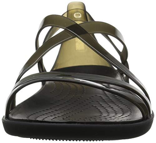 W Negro black 001 Sandalias Isabella Sandal Punta Strappy Para Abierta Crocs Mujer Con AwSxqtnO