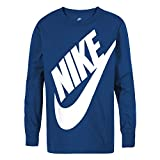NIKE Children's Apparel Boys' Little Long Sleeve Sportswear Graphic T-Shirt, Game Royal, 7