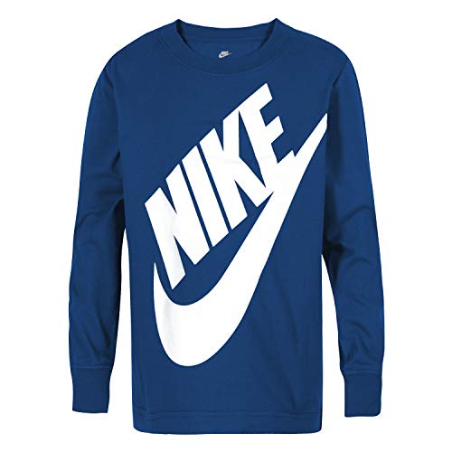 NIKE Children's Apparel Boys' Little Long Sleeve Sportswear Graphic T-Shirt, Game Royal, 7
