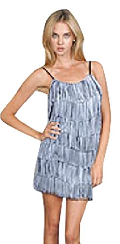 Cheryl Creations Women's Short All-Over Fringe Flapper Sleeveless Comfortable Day/Night Mini Dress with Adjustable Bra Straps ()