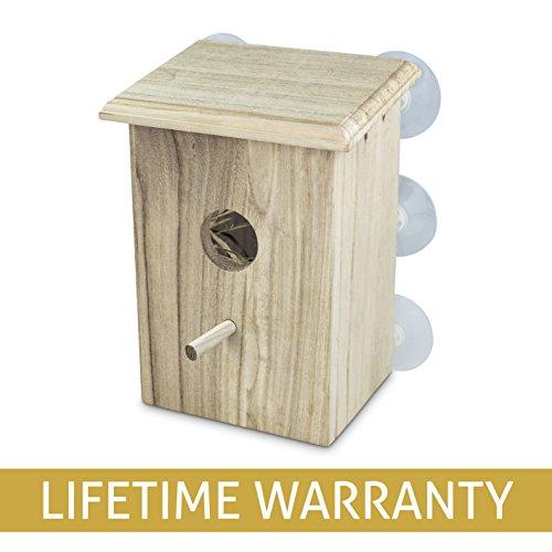 Wooden Bird Nest Box by PetsN'all | Clear - Birds Wooden Nest