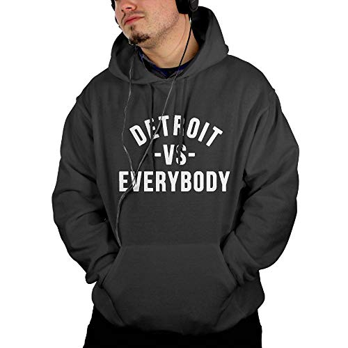 Detroit VS Everybody Men's Digital Print Pullover Hoodies Long Sleeve Sweatshirt