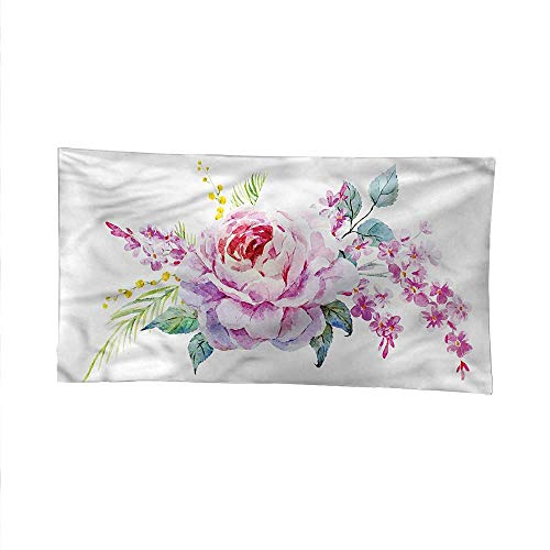 Mauvetapestrywall tapestryVintage Nosegay Roses Floral 60W x 40L Inch