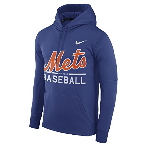 Nike Men's New York Mets Therma Pull Over Hoody Royal Size XXX-Large ()