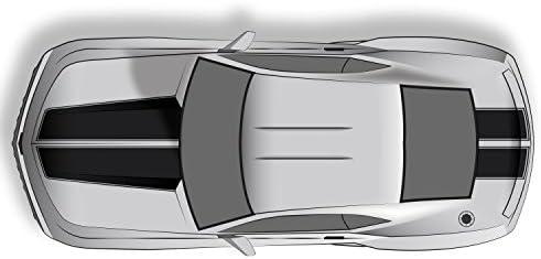 2010-2013 Camaro Rally Sport Stripes Hood /& Trunk Decals XPLORE OFFROAD Gloss Black