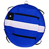 SM SunniMix Heavy Duty Scuba Diving Freediving Diver Snorkeling Spearfishing Surface Marker Buoy/Safety Buoyancy Signal Float Gear Equipment - Blue
