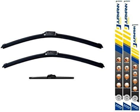 ab Bj 09.04 Jurmann/® Vision+ Aero Scheibenwischer 650//575 Hinten Wischblatt Satz A-Klasse W169 300 mm Komplettsatz Vorne