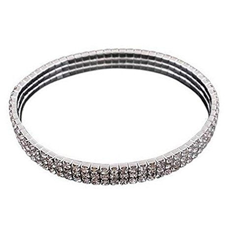 Huangiao Crystal Rhinestone Ankle Stretch Cz Tennis Ankle Anklet Bracelet