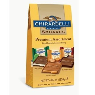 - Ghirardelli Assorted Chocolate Squares 4.85oz Gift Bag