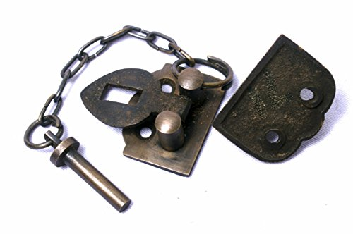Small Trunk or Chest Hasp With Chain Pin by Nesha by Nesha Design Components (Image #2)